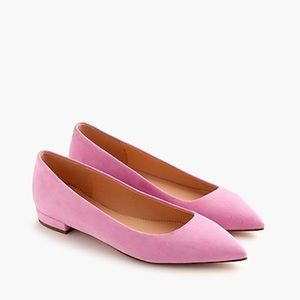 J. Crew Retail Suede Pointy Toe Flat